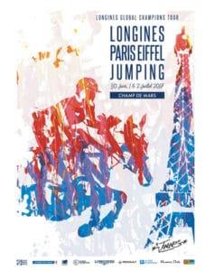 L'artiste Jonone graffe l'affiche du Longines Paris Eiffel Jumping